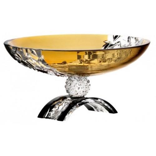 Portafrutta Xaz, cristallo, colore ambra, diametro 350 mm