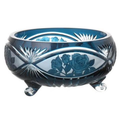 Insalatiera Rose, cristallo, colore azzurro, diametro 280 mm