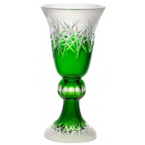 Vaso Hoarfrost, cristallo, colore verde, altezza 355 mm