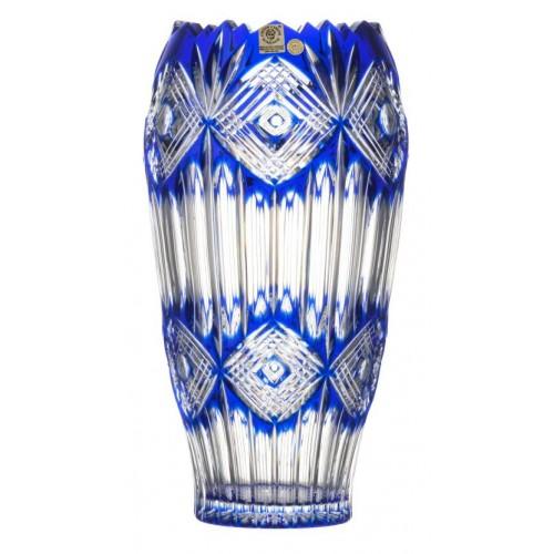 Vaso Mary, cristallo, colore blu, altezza 255 mm