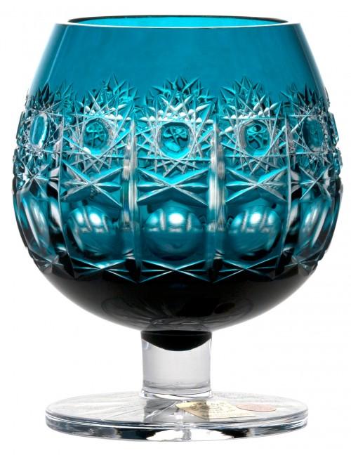 Bicchiere Brandy Petra, cristallo, colore azzurro, volume 300 ml