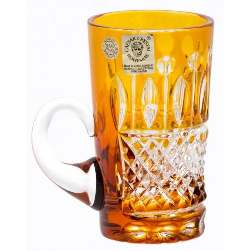 Tazza Tomy, cristallo, colore ambra, volume 100 ml