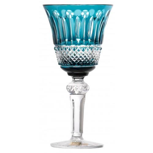 Bicchiere Tomy, cristallo, colore azzurro, volume 240 ml