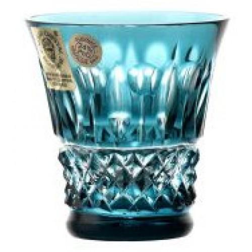 Bicchierino Tomy, cristallo, colore azzurro, volume 45 ml