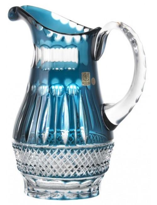 Brocca Tomy, cristallo, colore azzurro, volume 1300 ml