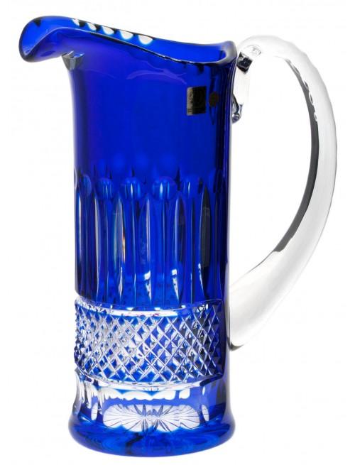 Brocca Tomy, cristallo, colore blu, volume 1200 ml