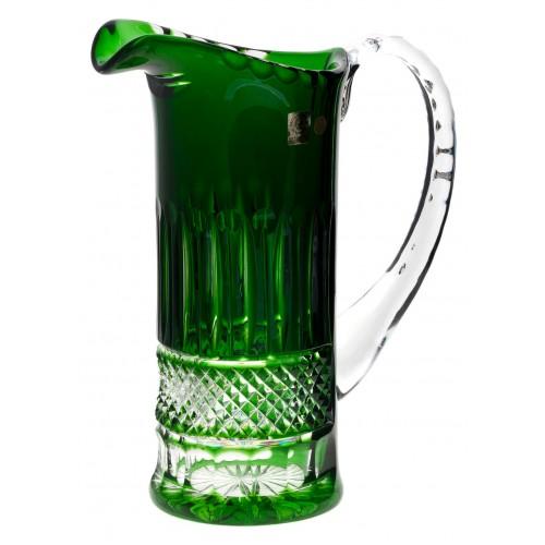 Brocca Tomy, cristallo, colore verde, volume 1200 ml