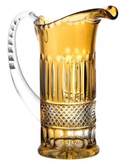 Brocca Tomy, cristallo, colore ambra, volume 1200 ml