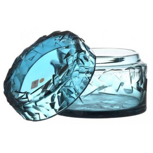 Confettiera Floe, cristallo, colore azzurro, altezza 166 mm
