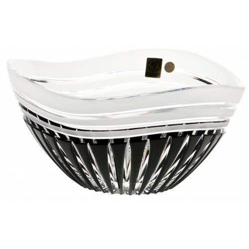 Ciotola Dune, cristallo, colore nero, diametro 118 mm
