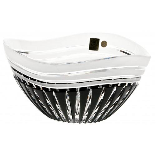Insalatiera Dune, cristallo, colore nero, diametro 155 mm