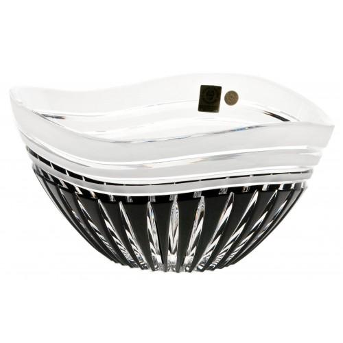 Insalatiera Dune, cristallo, colore nero, diametro 180 mm