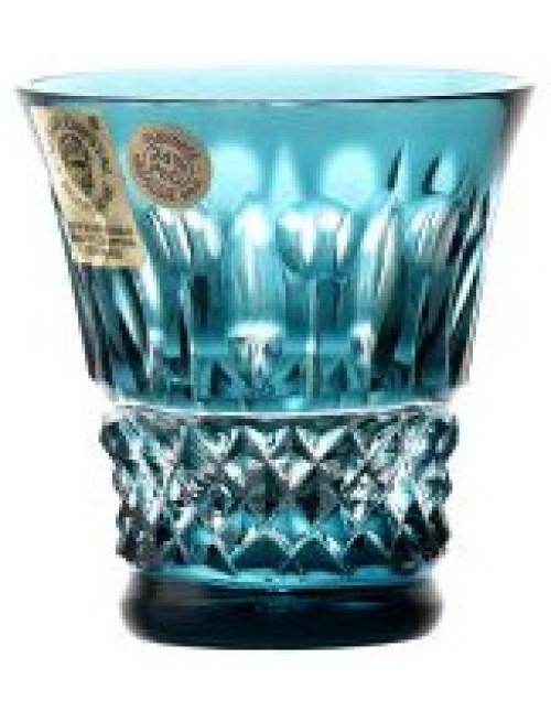 Bicchierino Tomy, cristallo, colore azzurro, volume 50 ml
