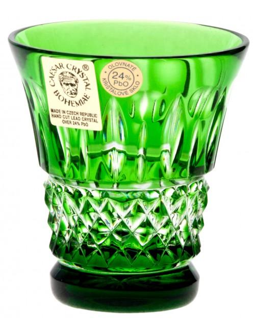 Bicchierino Tomy, cristallo, colore verde, volume 50 ml