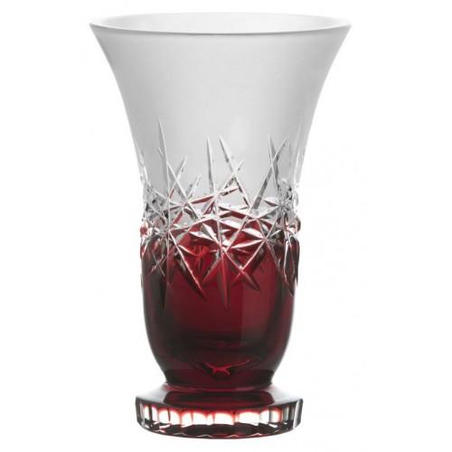 Vaso Hoarfrost, cristallo, colore rosso, altezza 205 mm