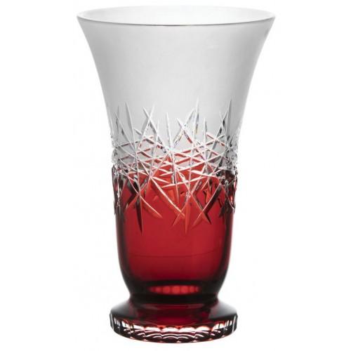 Vaso Hoarfrost, cristallo, colore rosso, altezza 305 mm