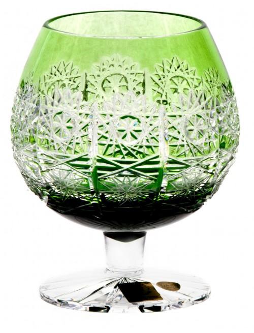 Bicchiere Brandy Paula, cristallo, colore verde. volume 300 ml