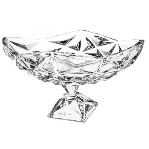 Portafrutta Piramide, cristallo trasparente, diametro 380 mm