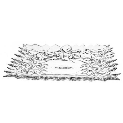 Piatto Glacier, cristallo trasparente, diametro 305 mm