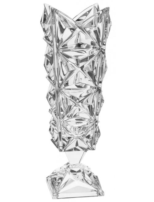Vaso Piramide, cristallo trasparente, altezza 382 mm