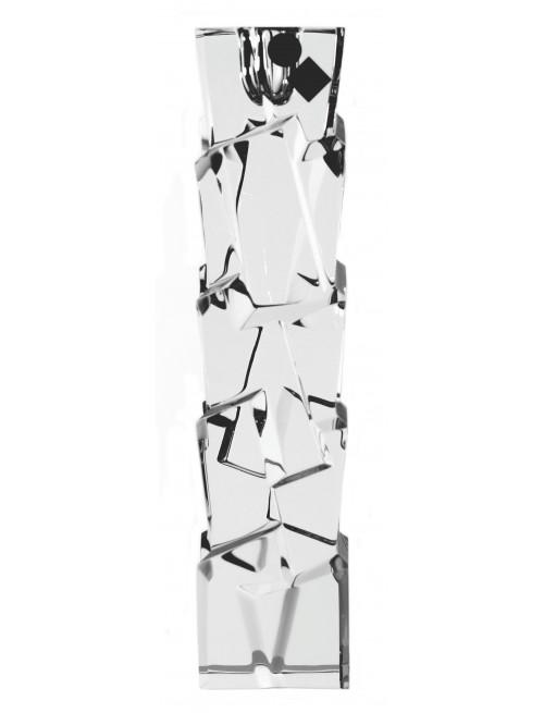 Portacandela Crack II, cristallo trasparente, altezza 230 mm