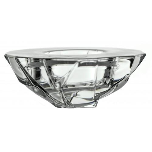 Portacandela Crack I, cristallo trasparente, diametro 111 mm