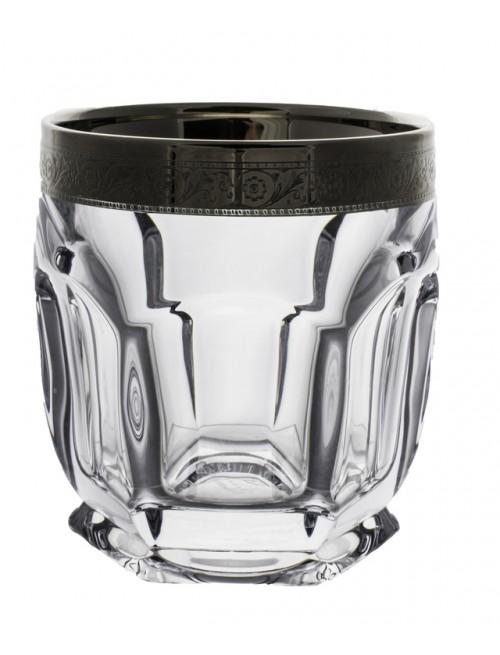 Set bicchieri Safari 6x, vetro trasparente dipinto platino, volume 250 ml