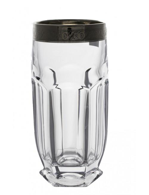 Set bicchieri Safari 6x, vetro trasparente dipinto platino, volume 300 ml