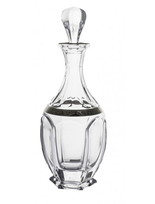 Bottiglia Safari, vetro trasparente dipinto platino, volume 800 ml