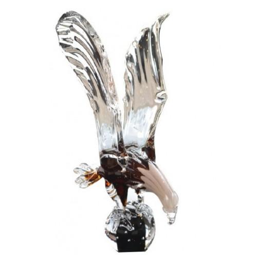 Aquila artigianale, vetro, multicolore, altezza 390 mm
