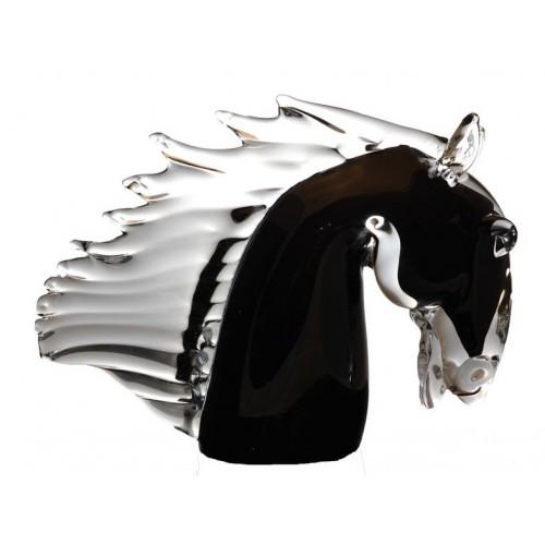 Cavallo artigianale, vetro, multicolore, altezza 220 mm