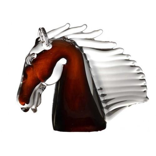 Cavallo artigianale, vetro, multicolore, altezza 190 mm
