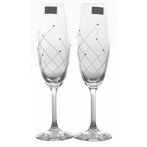 Set bicchieri Klara 2x, vetro trasparente, volume 220 ml
