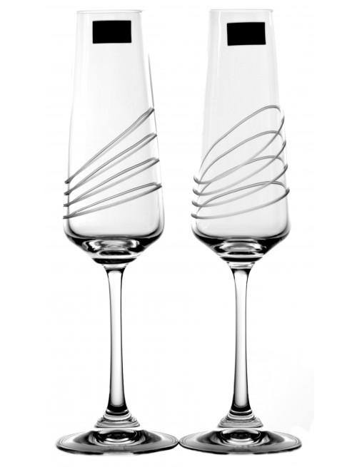 Set bicchieri Naomi 2x, vetro trasparente, volume 160 ml