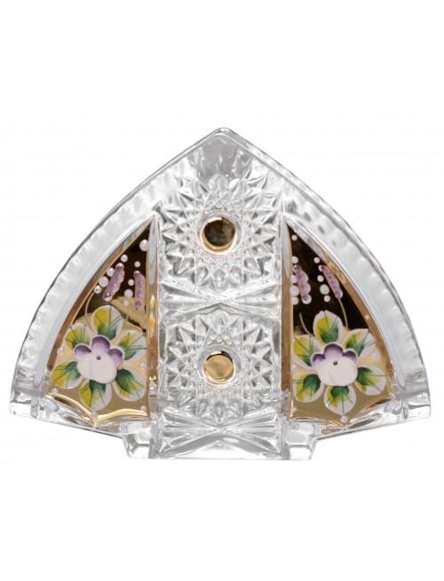 Porta tovaglioli 500PK, cristallo trasparente dipinto oro, altezza 140 mm