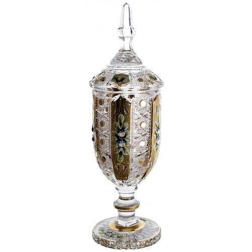 Coppa 500PK, cristallo trasparente dipinto oro, altezza 450 mm