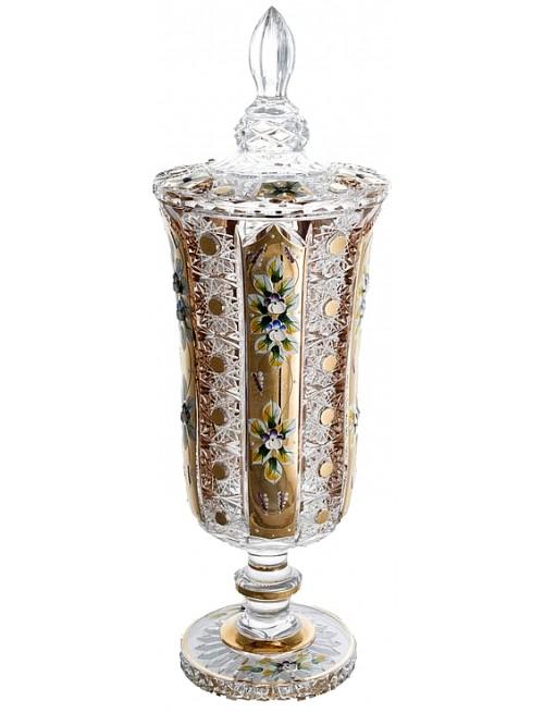 Coppa 500PK, cristallo trasparente dipinto oro, altezza 480 mm