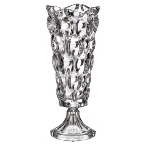Vaso Samba, vetro trasparente, altezza 405 mm