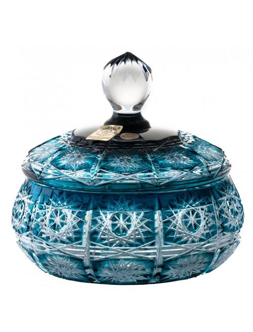 Confettiera Paula, cristallo, colore azzurro, altezza 128 mm