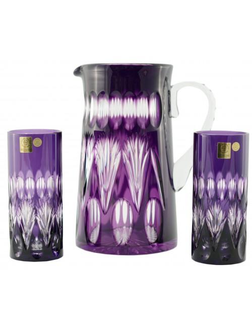 Set Zora 1+2, cristallo, colore viola, volume 1450 ml + 2x350 ml