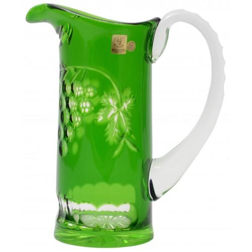 Brocca Grapes, cristallo, colore verde, volume 900 ml