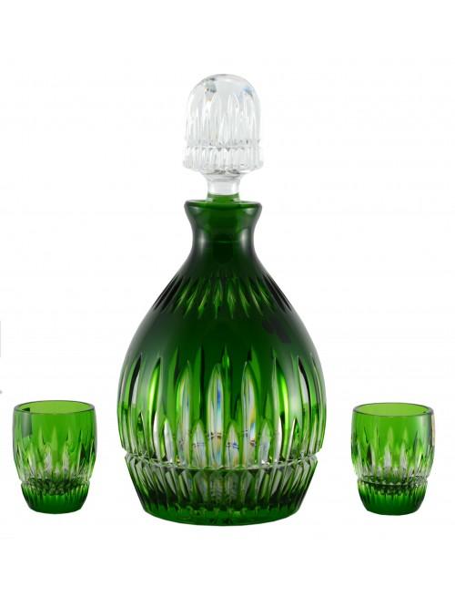 Set Thorn 1+2, cristallo, colore verde, volume 700 ml + 50 ml