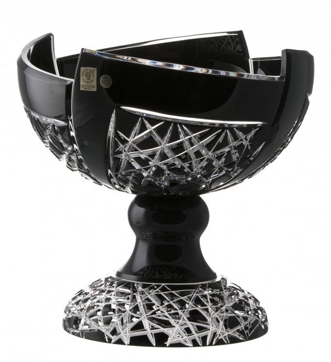 Portafrutta Fan, cristallo, colore nero, diametro 240 mm ...